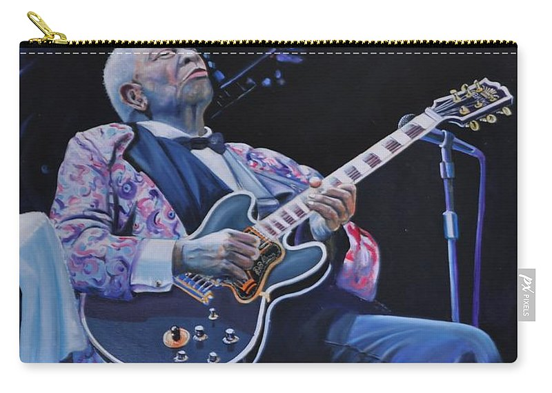 Musician Carry-all Pouch featuring the painting Bb King by Gordon Roy