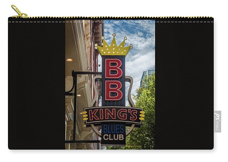 Bb King's Blues Club - Honky Tonk Row Carry-all Pouch featuring the photograph Bb King's Blues Club - Honky Tonk Row by Debra Martz