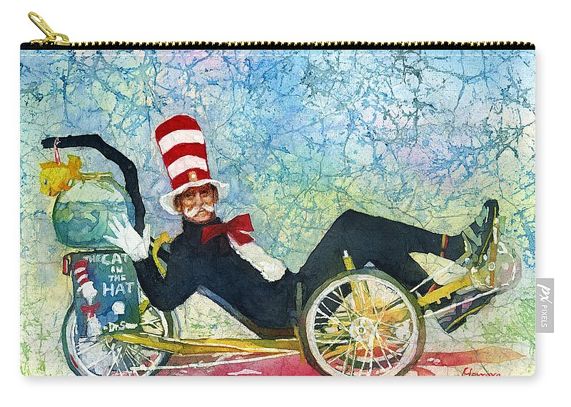 Marvin Small Carry-all Pouch featuring the painting Bcs Cool Cat by Hailey E Herrera