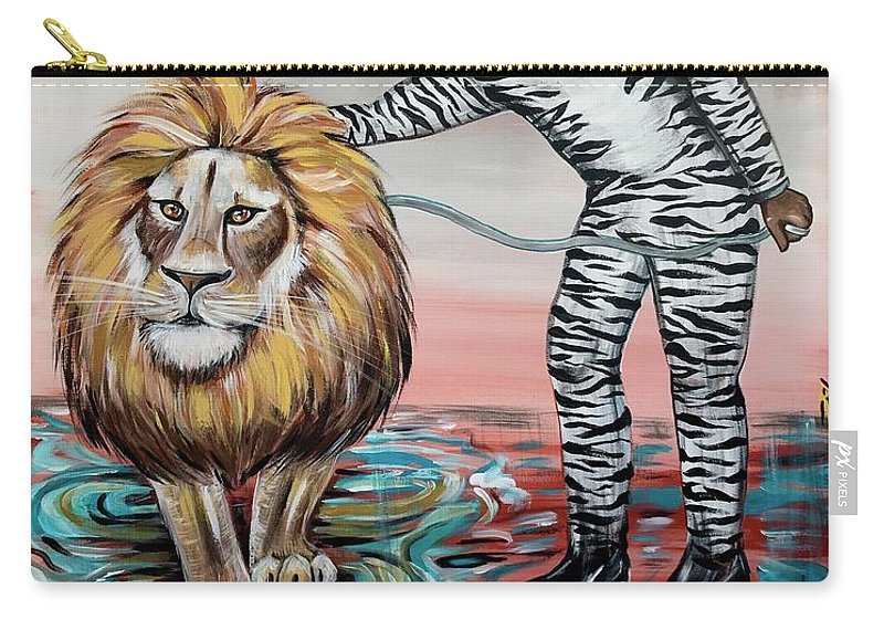 Son Carry-all Pouch featuring the painting Be Courageous My Son by Artist RiA