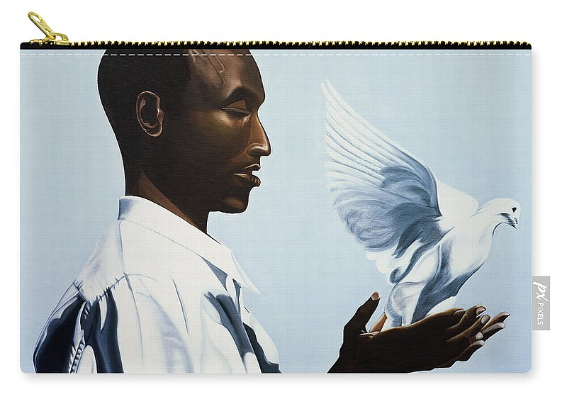Be Free Three Carry-all Pouch featuring the painting Be Free Three by Kaaria Mucherera
