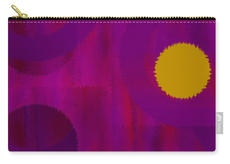 Abstract Carry-all Pouch featuring the digital art Be Happy II by Ruth Palmer
