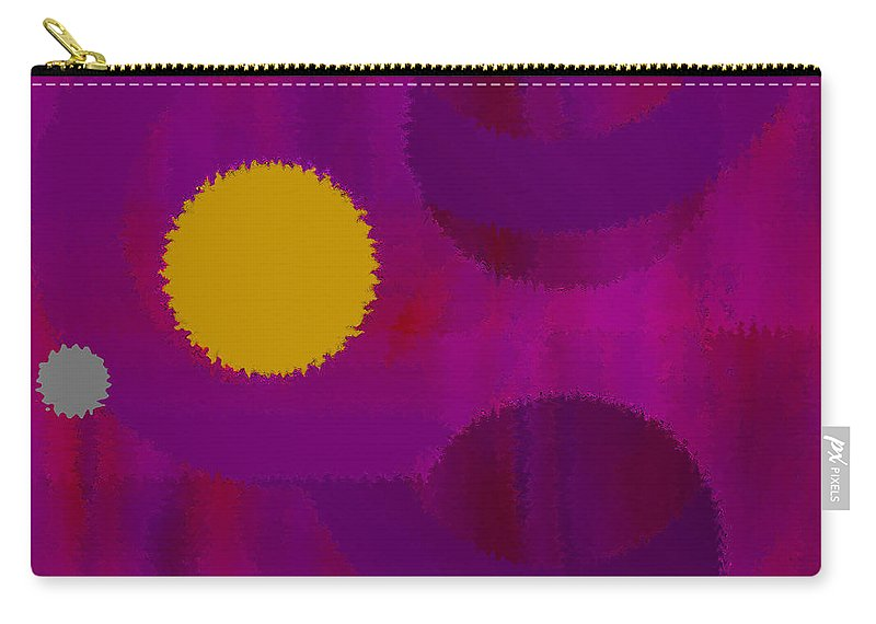 Abstract Carry-all Pouch featuring the digital art Be Happy by Ruth Palmer