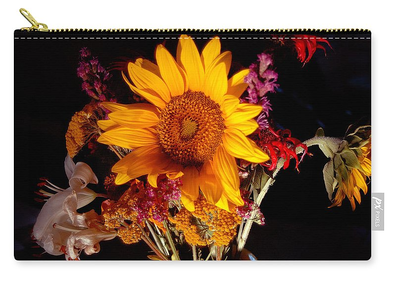 Sunflower Carry-all Pouch featuring the photograph Be Still by Trish Hale