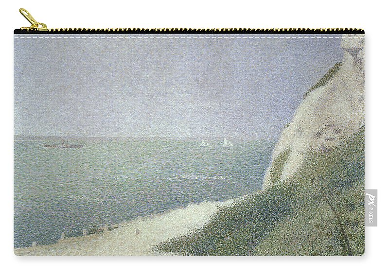 Beach At Bas Butin Carry-all Pouch featuring the painting Beach At Bas Butin by Georges Pierre Seurat