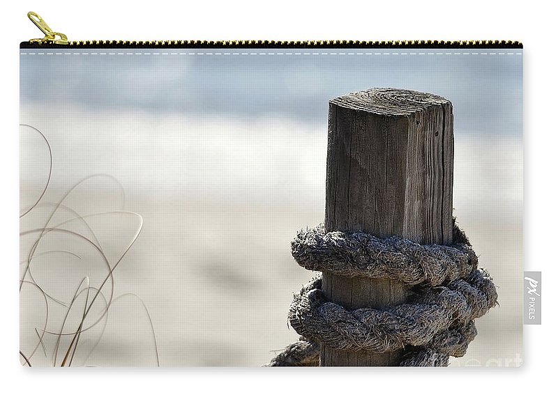 Beach Carry-all Pouch featuring the photograph Beach Barrier by Al Powell Photography USA