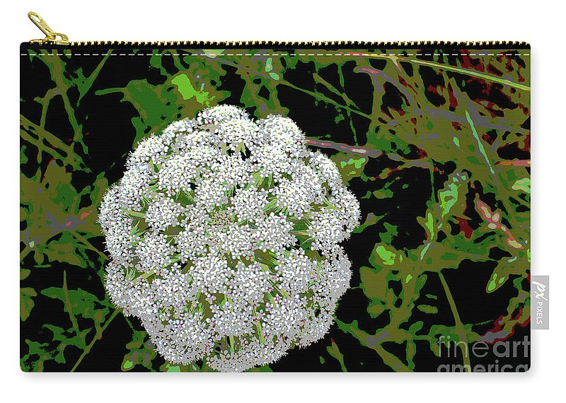 Wild Carry-all Pouch featuring the digital art Beach Bloom by Eddie Barron