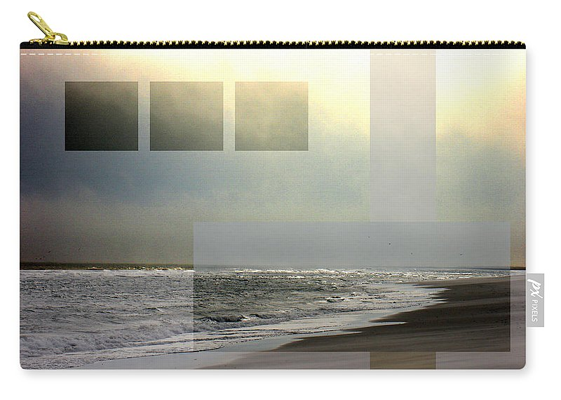 Beach Carry-all Pouch featuring the photograph Beach Collage 2 by Steve Karol