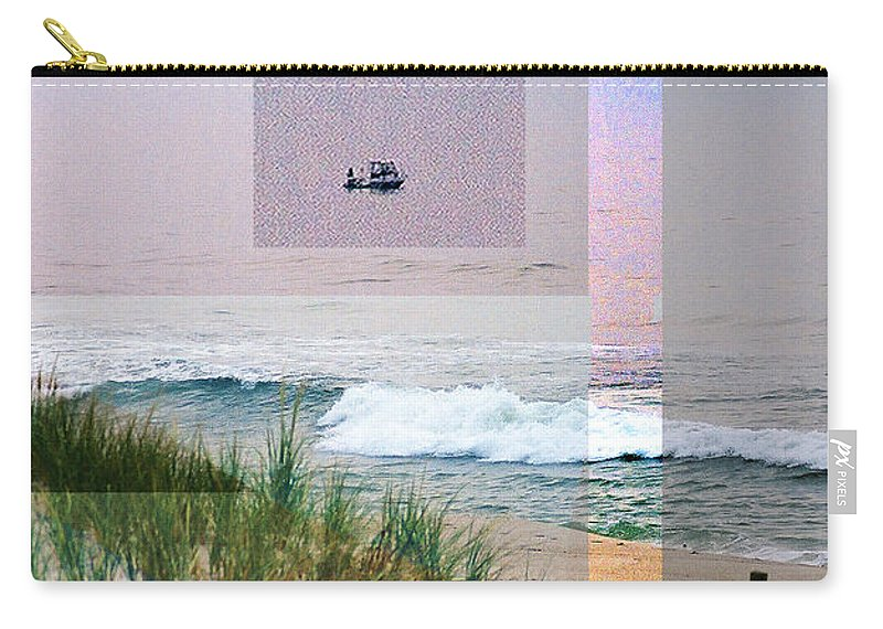 Landscape Carry-all Pouch featuring the digital art Beach Collage 3 by Steve Karol