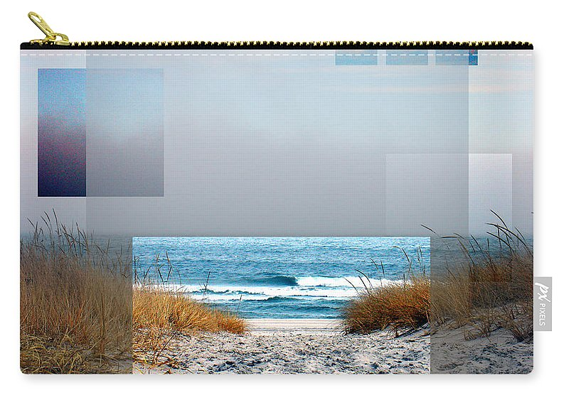 Beach Carry-all Pouch featuring the photograph Beach Collage by Steve Karol