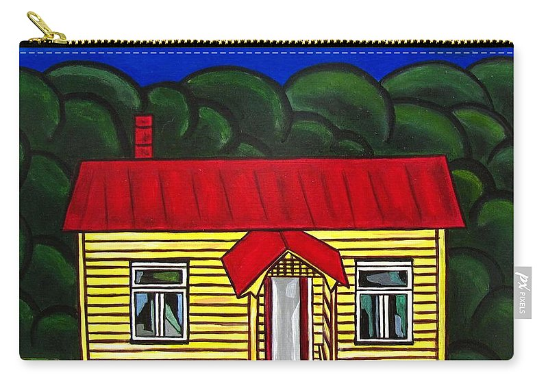 Cottage Carry-all Pouch featuring the painting Beach Cottage by Sandra Marie Adams