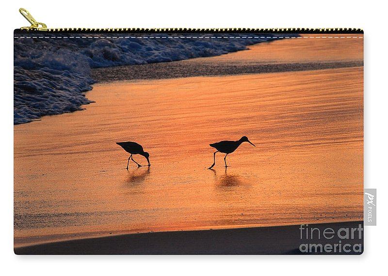 Beach Carry-all Pouch featuring the photograph Beach Couple by David Lee Thompson