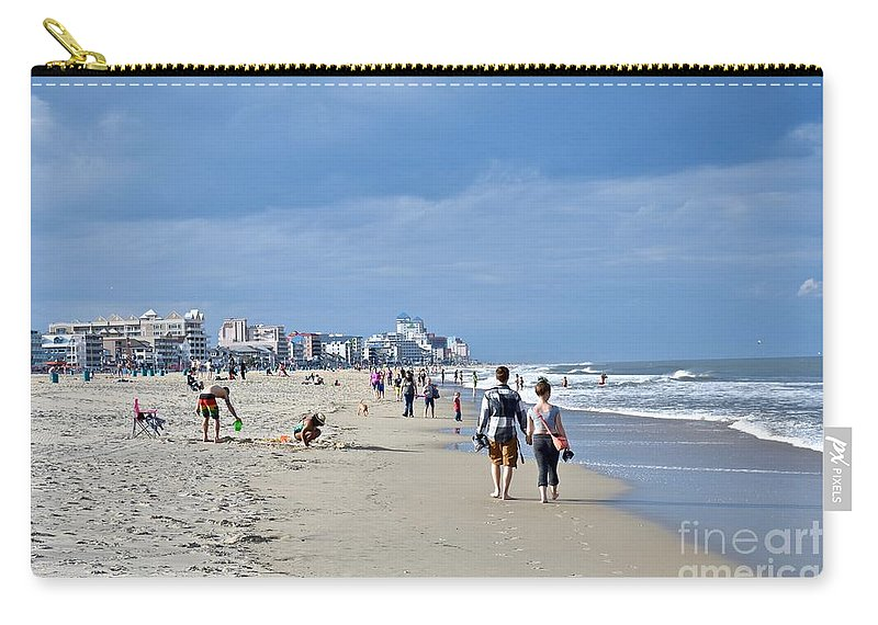 Beach Carry-all Pouch featuring the photograph Beach Day by Jeramey Lende