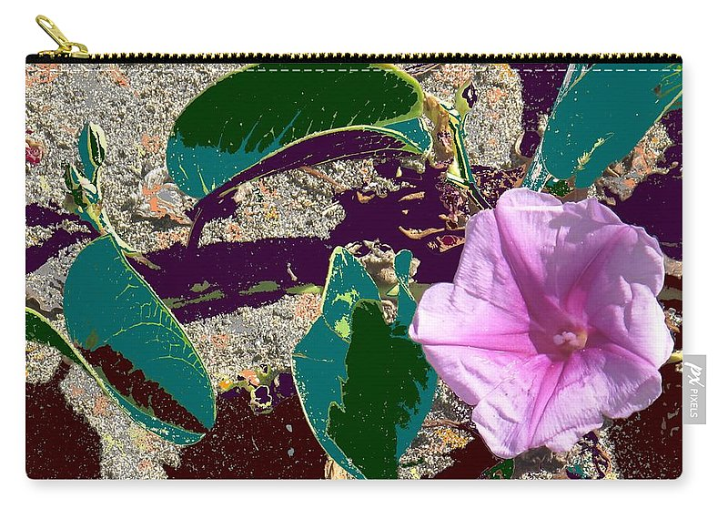 Beach Carry-all Pouch featuring the photograph Beach Flower by Ian MacDonald