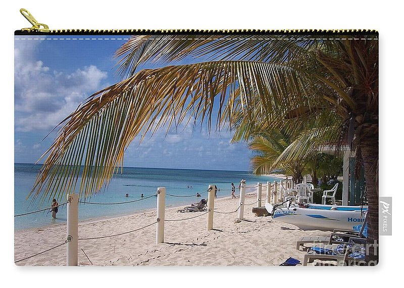 Beach Carry-all Pouch featuring the photograph Beach Grand Turk by Debbi Granruth