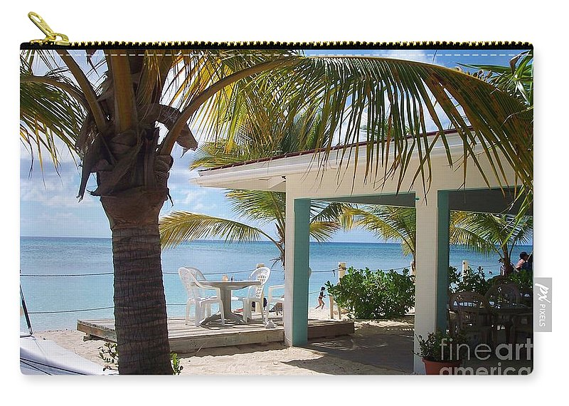 Beach Carry-all Pouch featuring the photograph Beach In Grand Turk by Debbi Granruth