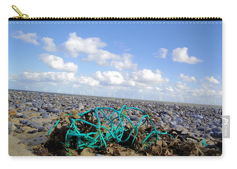 Beach Carry-all Pouch featuring the photograph Beach Net by Susan Baker