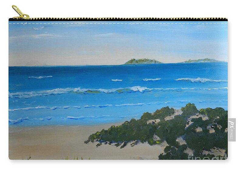 Pamela-meredith Carry-all Pouch featuring the painting Beach On The North Coast Of Nsw by Pamela Meredith