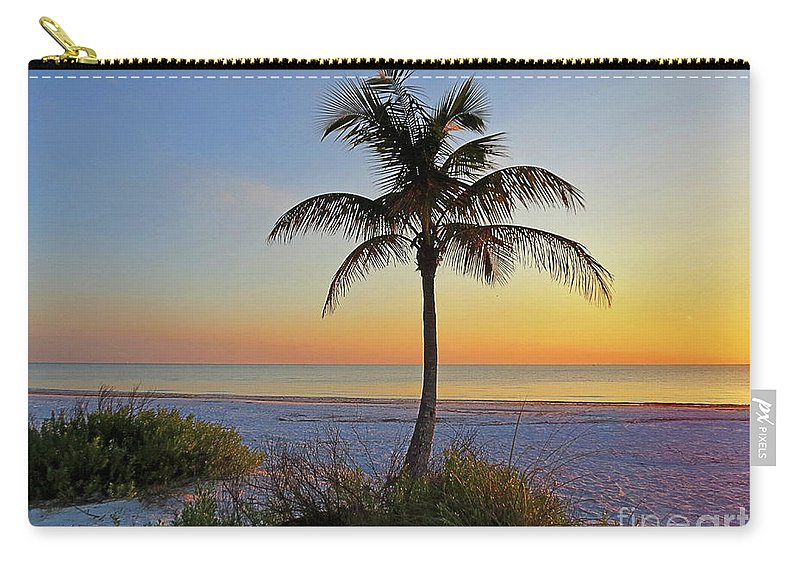Florida Carry-all Pouch featuring the photograph Beach Palm by Chris Andruskiewicz