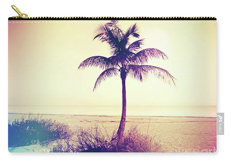 Florida Carry-all Pouch featuring the photograph Beach Palm Summer by Chris Andruskiewicz