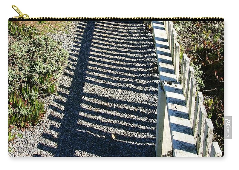 Half Moon Bay Carry-all Pouch featuring the photograph Beach Path by Carol Groenen