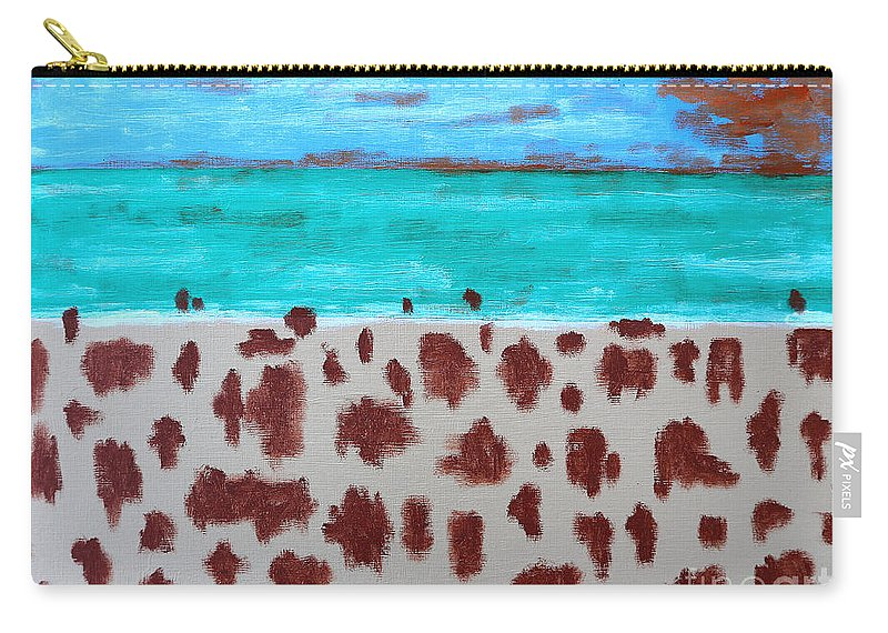 Beach Carry-all Pouch featuring the painting Beach by Patrick J Murphy