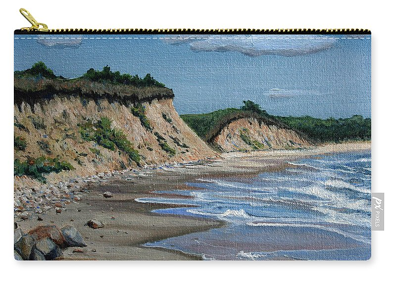 Beach Carry-all Pouch featuring the painting Beach by Paul Walsh