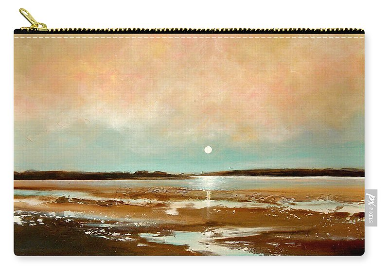 Beach Carry-all Pouch featuring the painting Beach Reflections by Toni Grote