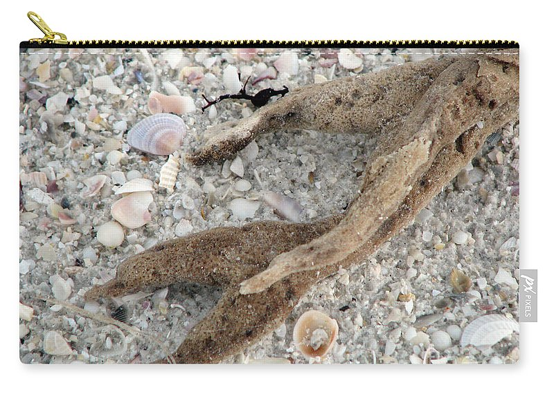 Sand Carry-all Pouch featuring the photograph Beach Scape by Amanda Barcon