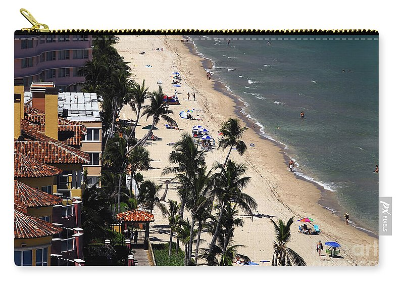 Beach Carry-all Pouch featuring the photograph Beach Scene by David Lee Thompson