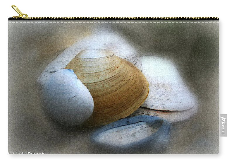 Nature Carry-all Pouch featuring the photograph Beach Shells by Linda Sannuti