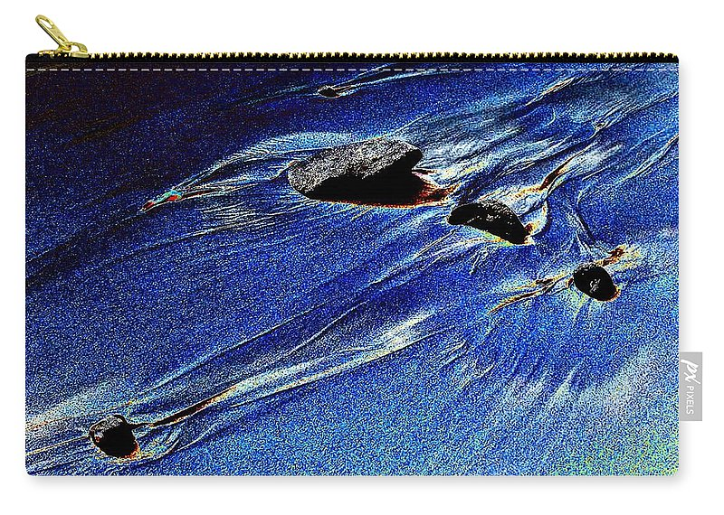 Beach Carry-all Pouch featuring the photograph Beach Sinuosity by Tim Allen