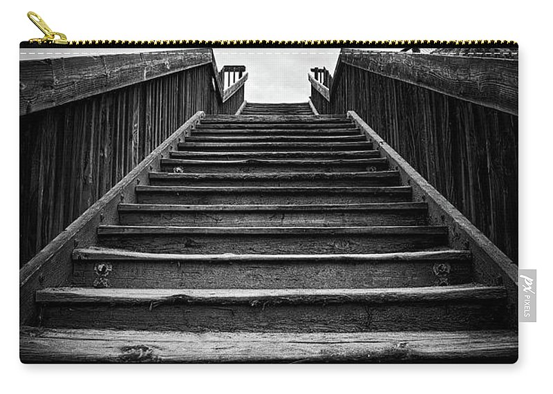 Steps Carry-all Pouch featuring the photograph Beach Stairway by Art Wager