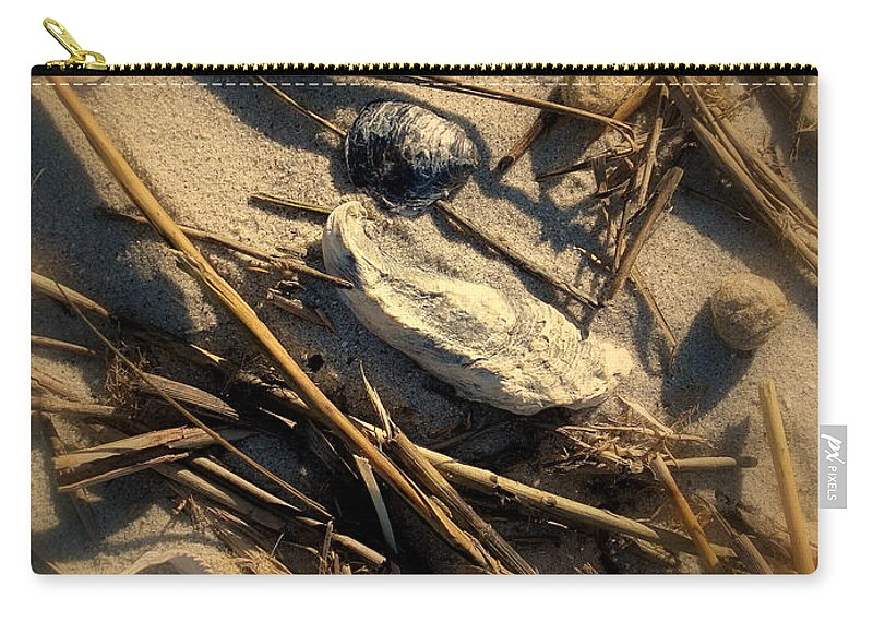 Beach Carry-all Pouch featuring the photograph Beach Still Life by Susanne Van Hulst