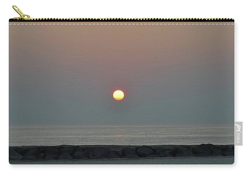 Beach Carry-all Pouch featuring the photograph Beach Sunrise by Bill Cannon