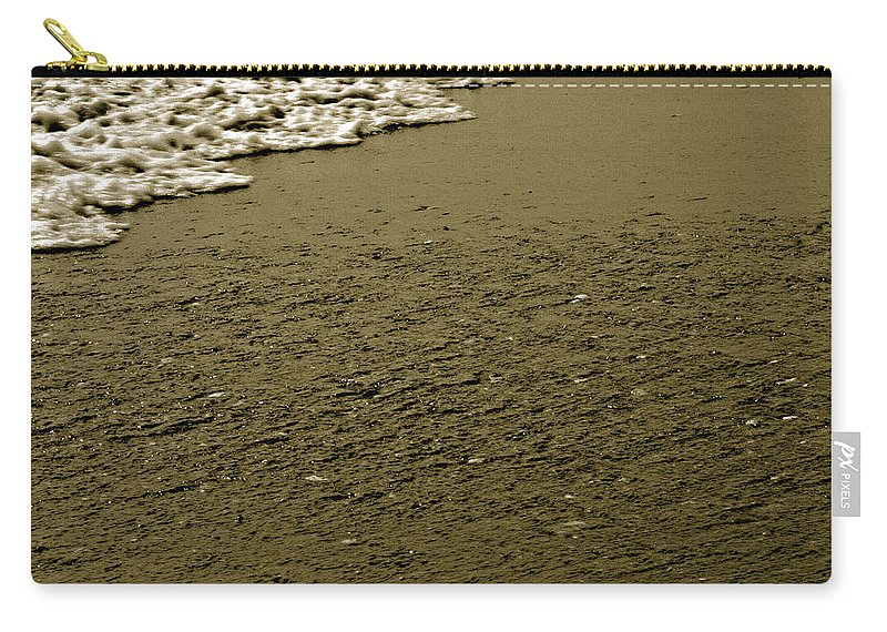 Water Carry-all Pouch featuring the photograph Beach Texture by Jean Macaluso