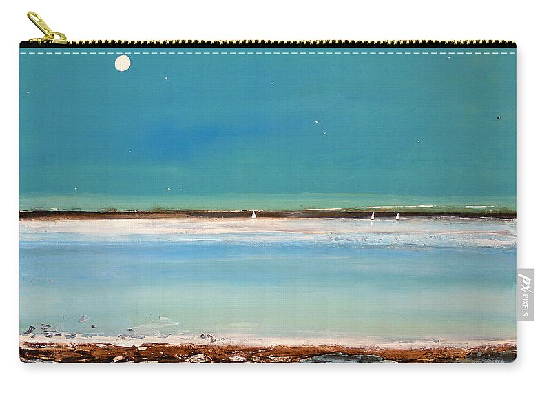 Minimalist Art Carry-all Pouch featuring the painting Beach Textures by Toni Grote