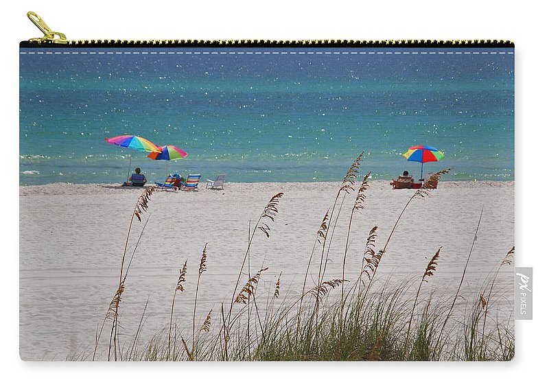 Gulf Of Mexico Carry-all Pouch featuring the photograph Beach Time At The Gulf - Before The Oil Spill Disaster by Susanne Van Hulst