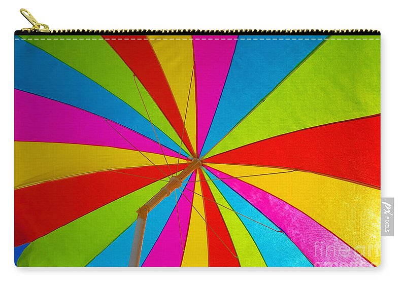 Beach Carry-all Pouch featuring the photograph Beach Umbrella by David Lee Thompson