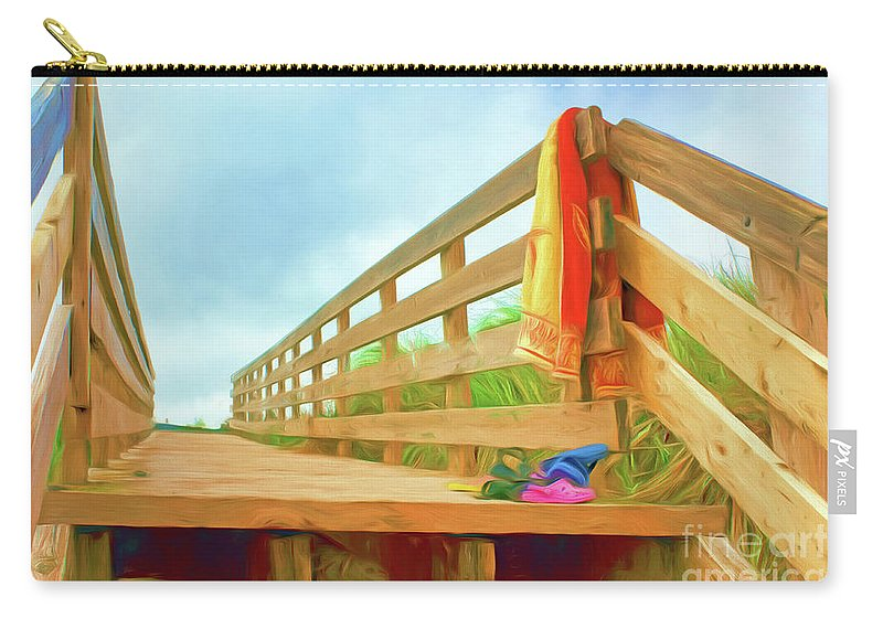 Beach Carry-all Pouch featuring the photograph Beach Visit by Nikolyn McDonald