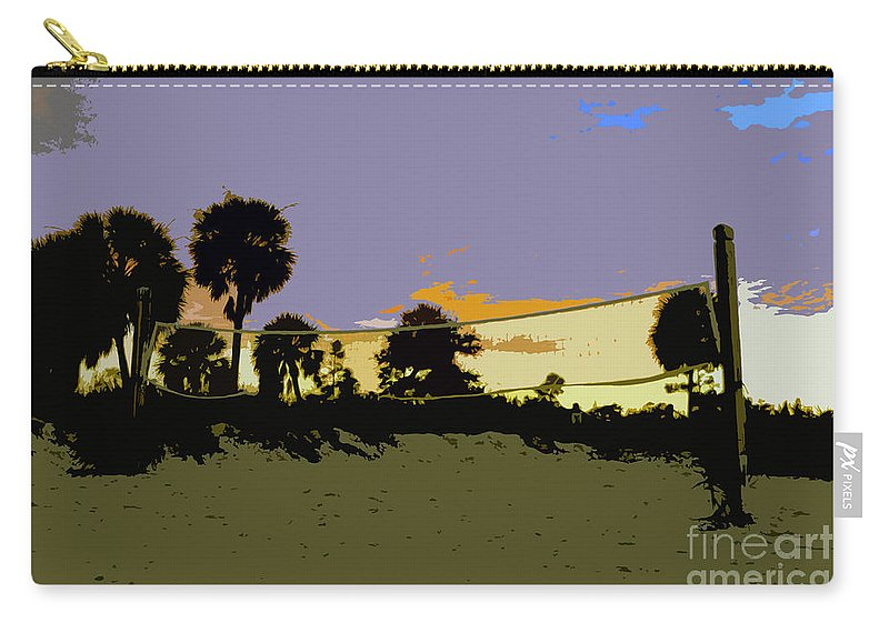 Beach Volley Ball Carry-all Pouch featuring the painting Beach Volley Ball by David Lee Thompson