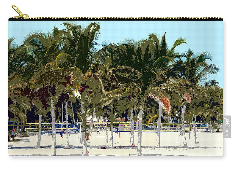 Beach Carry-all Pouch featuring the photograph Beach Volleyball by David Lee Thompson