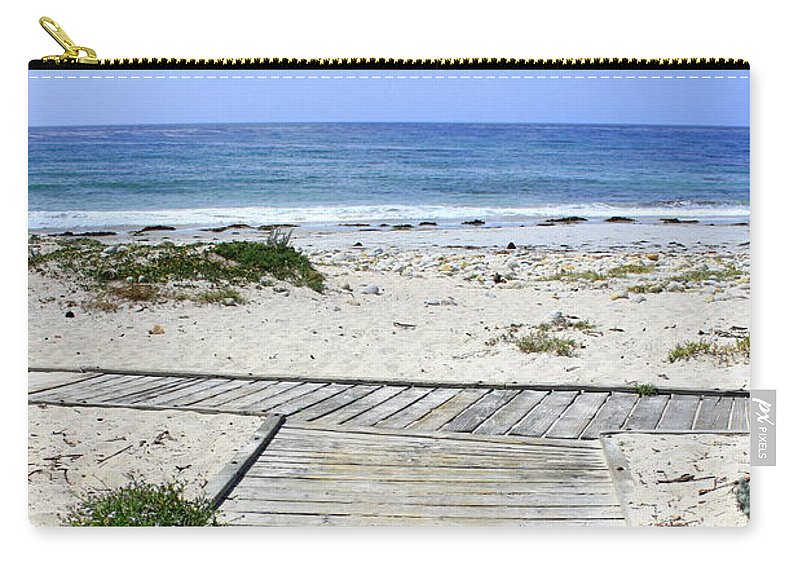 Ocean Carry-all Pouch featuring the photograph Beach Walk by Carol Groenen