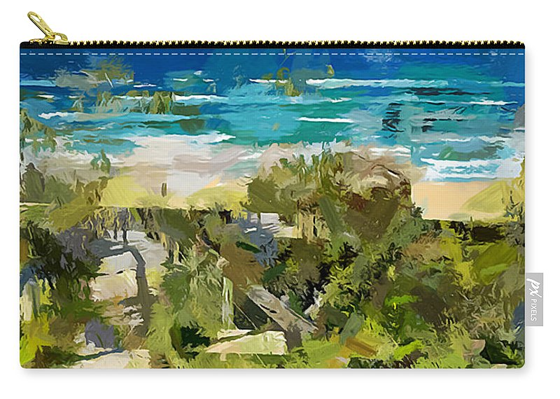 Beach Carry-all Pouch featuring the painting Beach Walk by Chris Butler