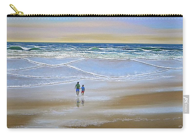 Beach Carry-all Pouch featuring the painting Beach Walk by Frank Wilson