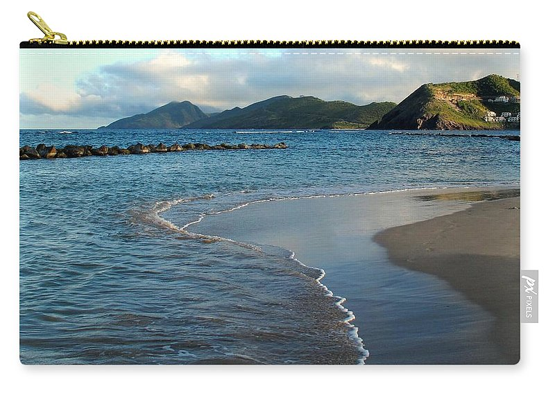 St Kitts Carry-all Pouch featuring the photograph Beach Walk by Ian MacDonald