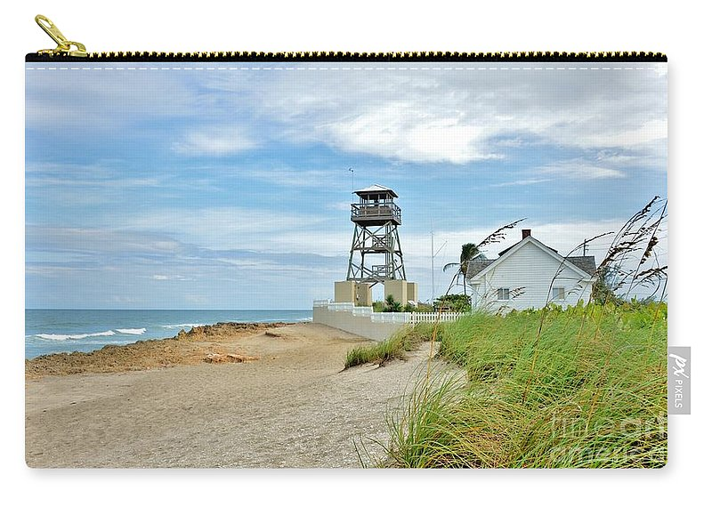 Guiding Light Carry-all Pouch featuring the photograph Drifting Tides by Lisa Renee Ludlum