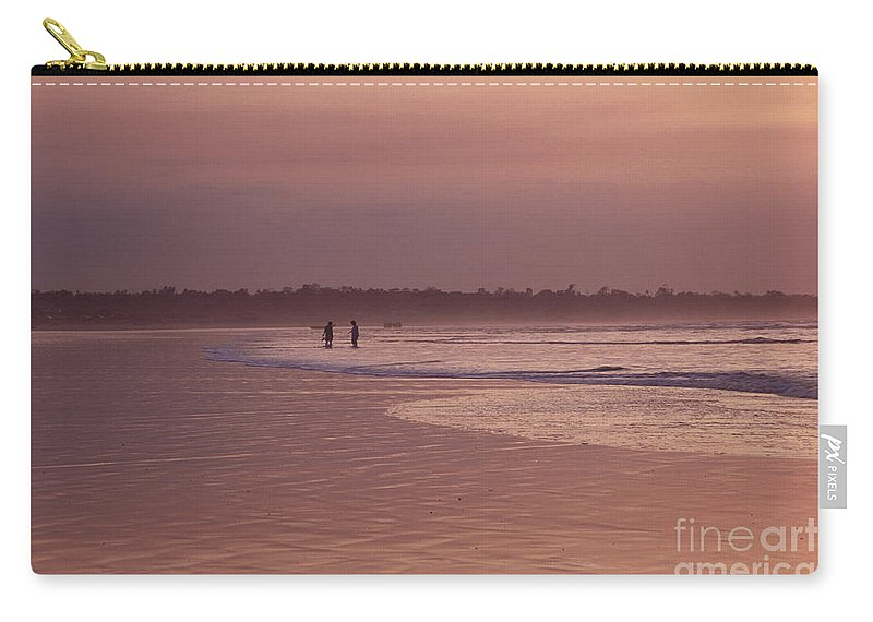 Ecuador Carry-all Pouch featuring the photograph Beachcombers by Kathy McClure