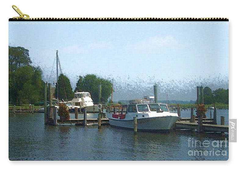 Boat Carry-all Pouch featuring the photograph Beached Buoys by Debbi Granruth