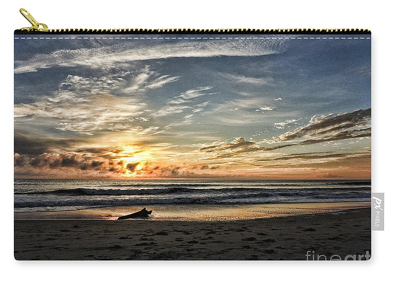 Wash Carry-all Pouch featuring the photograph Beached by Mim White